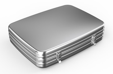 metallic suitcase or briefcase