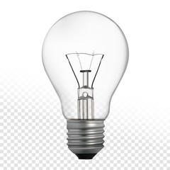 Light bulb isolated on white background. Vector illustration