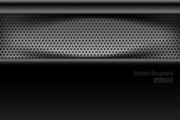 Chrome black and grey background texture vector illustration 004