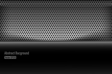 Chrome black and grey background texture vector illustration 005
