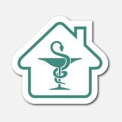Logo maison et pharmacie.