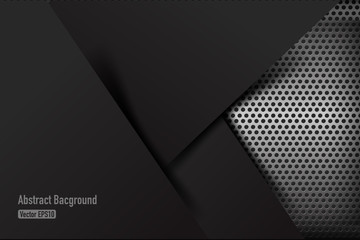 Chrome black and grey background texture vector illustration 011 Wall mural