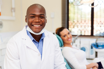 african male dentist
