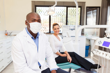 african american dentist and patient