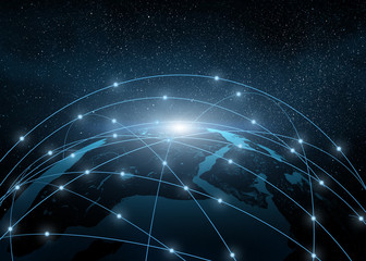 earth in a web of network