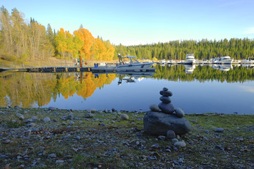 Arte na natureza - Jackson Lake