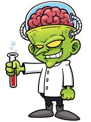 Vector illustration of Cartoon Scientist
