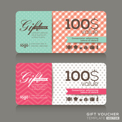 cute gift voucher certificate coupon design template