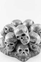Simulation human skull on White Background