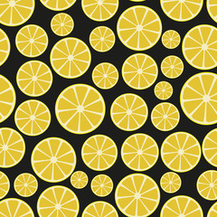 colorful sliced lemon fruits seamless pattern eps10