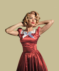 Beautiful young retro pinup woman