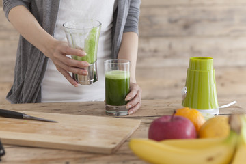 Women are making a health drink