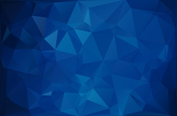 Blue Dark Polygonal Mosaic Background, Vector illustration,  Creative  Business Design Templates