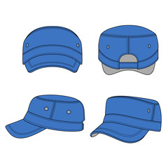 Jeep cap band outlined template