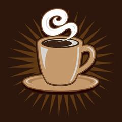 Vintage Retro Coffee Cup