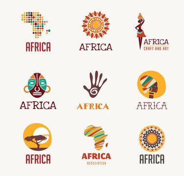 Africa, Safari icons and element set