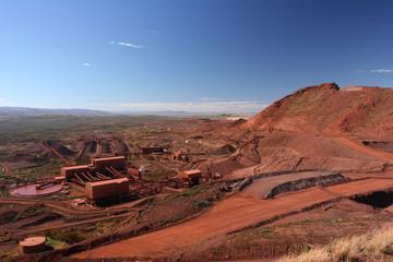 Iron ore mining operations Pilbara region Western Australia