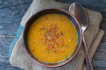 Sweet potato soup hot and spicy
