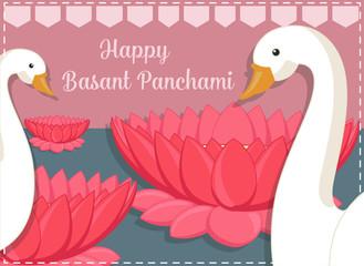 Happy Basant Panchami - Greeting Template