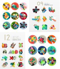 Modern geometric design temlates, universal diagram, banner