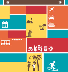 Choose Your Best Summer Vacation. Tourist Vector Brochure