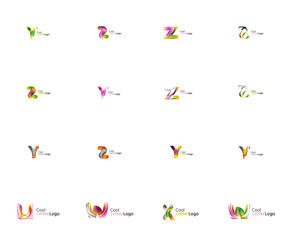 Set of universal company logo ideas, business icon collection