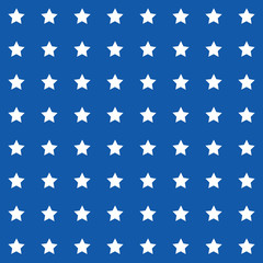 Abstract Seamless geometric pattern with stars on a blue backgro