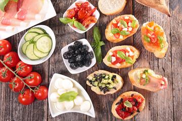 Recess Fitting Appetizer bruschetta