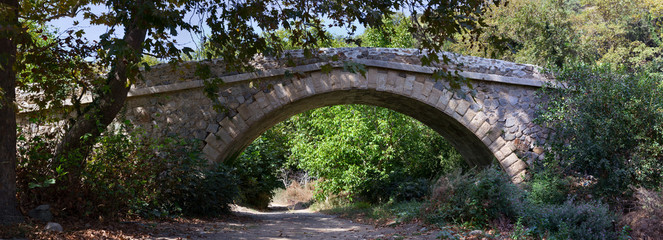 Stone bridge near Mouliana, Sitia, Crete.
