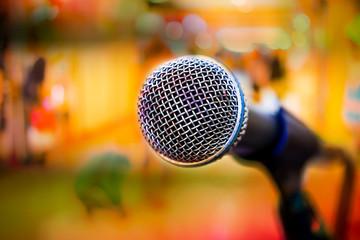 Microphone close up.