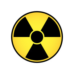 Radioactive sign vector