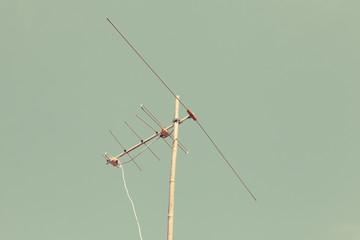 Analog TV antenna. Vintage filter.