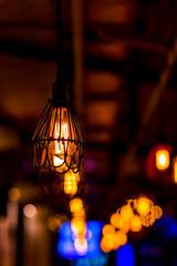Luxury retro light bulb decor.
