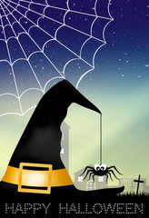Spider on witch hat