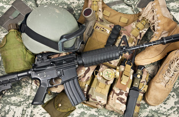 modern weapons and military equipment