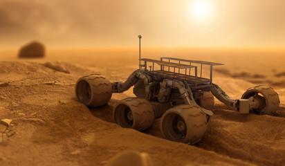 Robot of humans on Mars