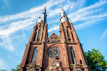 Fotobehang Monument Saint Catharine Church in Eindhoven. Netherlands