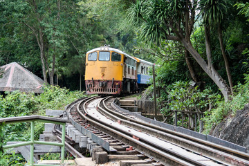 Old train on death railway ,Kanchanaburi