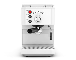 Espresso Coffee Making Machine. 3d rendering