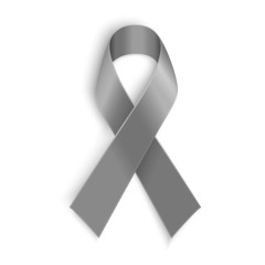 Grey ribbon symbol of borderline personality disorder, diabetes
