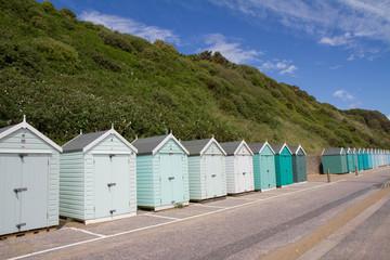 Colorful Beach huts, Bournemouth, Dorset, UK