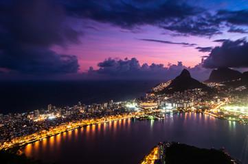 Spectacular Aerial View of Rio de Janeiro by Sunset