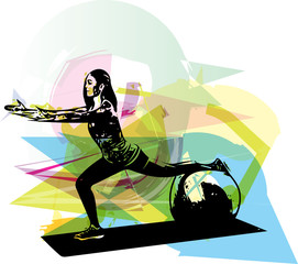 Yoga woman illustration