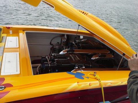 Racing Boat at the 2014 Smith Mountain Lake Poker Run Virginia USA