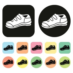 Sneaker icon. Sport shoes icon. Vector