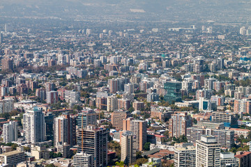 Aerial view of Santiago de Chile