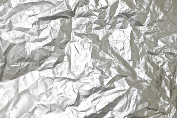 Gray crumpled plastic, backgrounds and textures