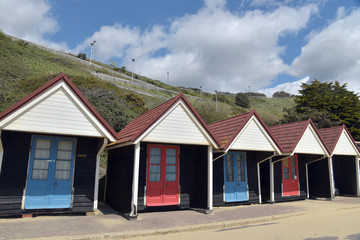Beach huts on promenade, Bournemouth, Dorset