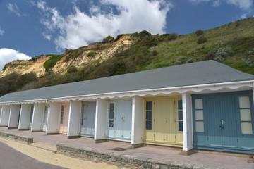 Beach huts on promenade, Bournemouth, Dorset