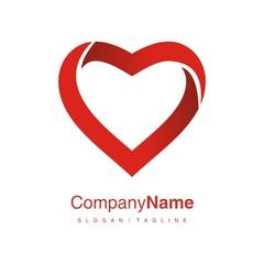 Heart logo icon vector